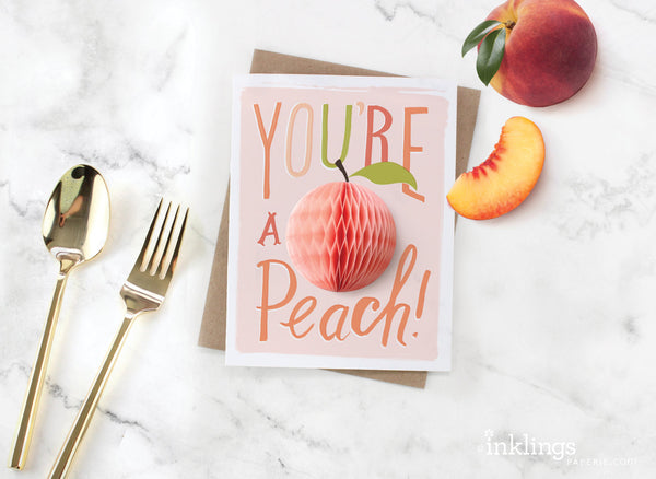 Peach Pop-up Card