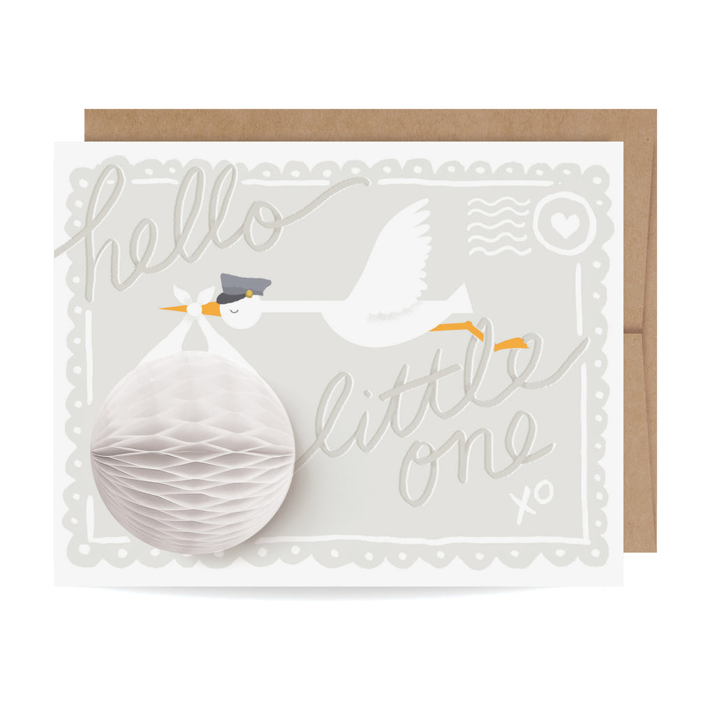 Baby Stork Pop-up Card