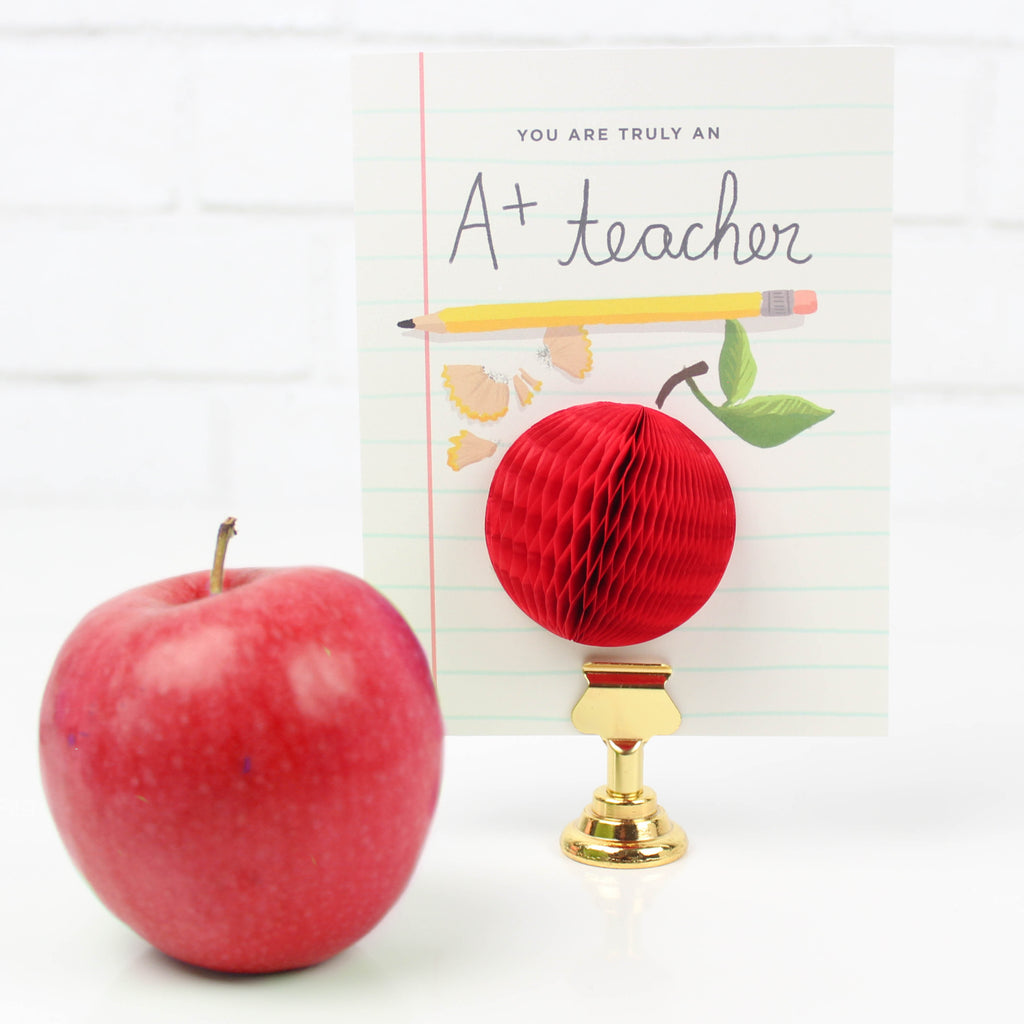 A+ Teacher Pop-up Card