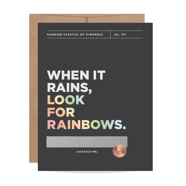 Look For Rainbows Scratch-off Card