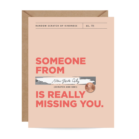 Missing You Scratch-off Card