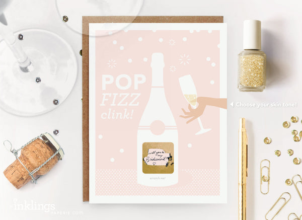 Pop Fizz Clink Scratch-off Card (Skin Tone A)