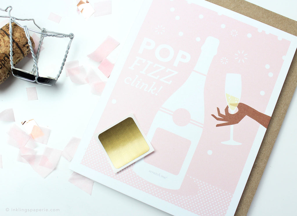 Pop Fizz Clink Scratch-off Card (Skin Tone B)