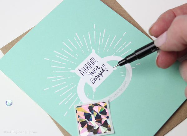 Sparkle Ring Scratch-off Card