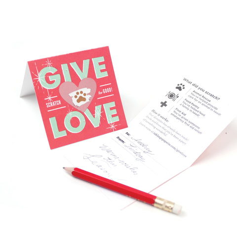 GIVE LOVE Social Good Scratch-offs