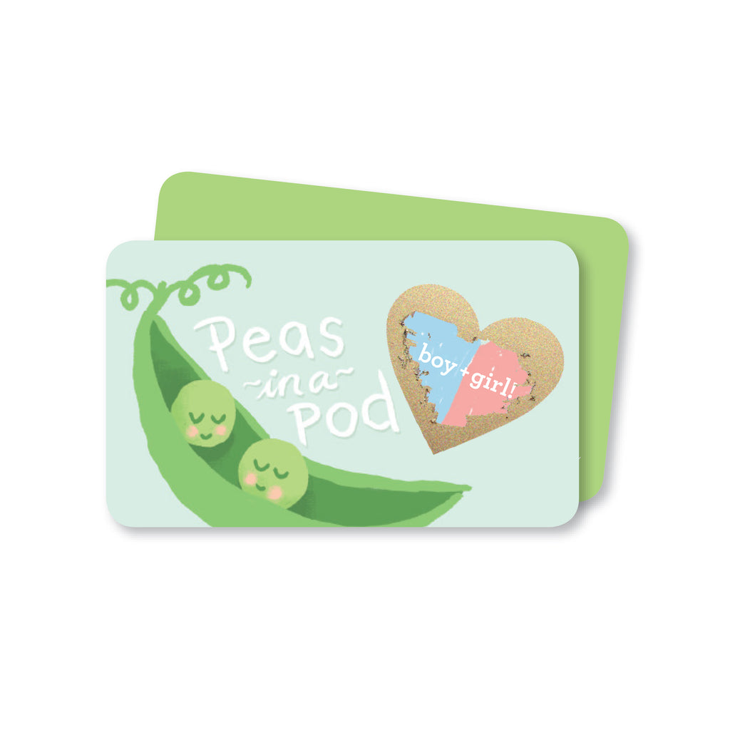 Peas in a Pod Gender Reveal