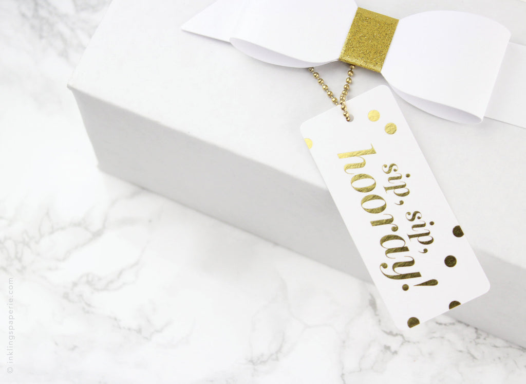 Sip, Sip, Hooray Luxe Tags