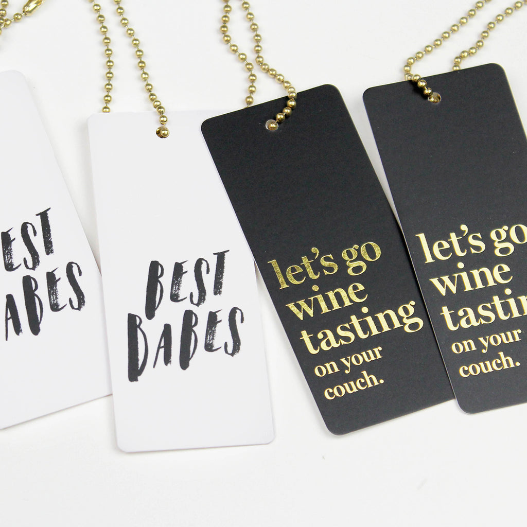 Couch Wine Tasting Tag