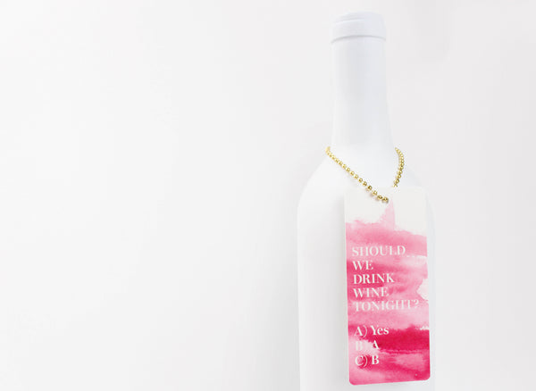 Rose Gold Watercolor Luxe Tags