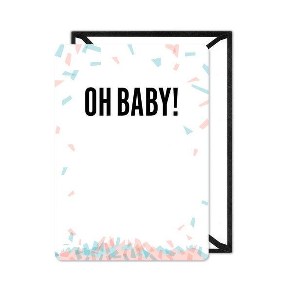 Gender Reveal Confetti Invitation