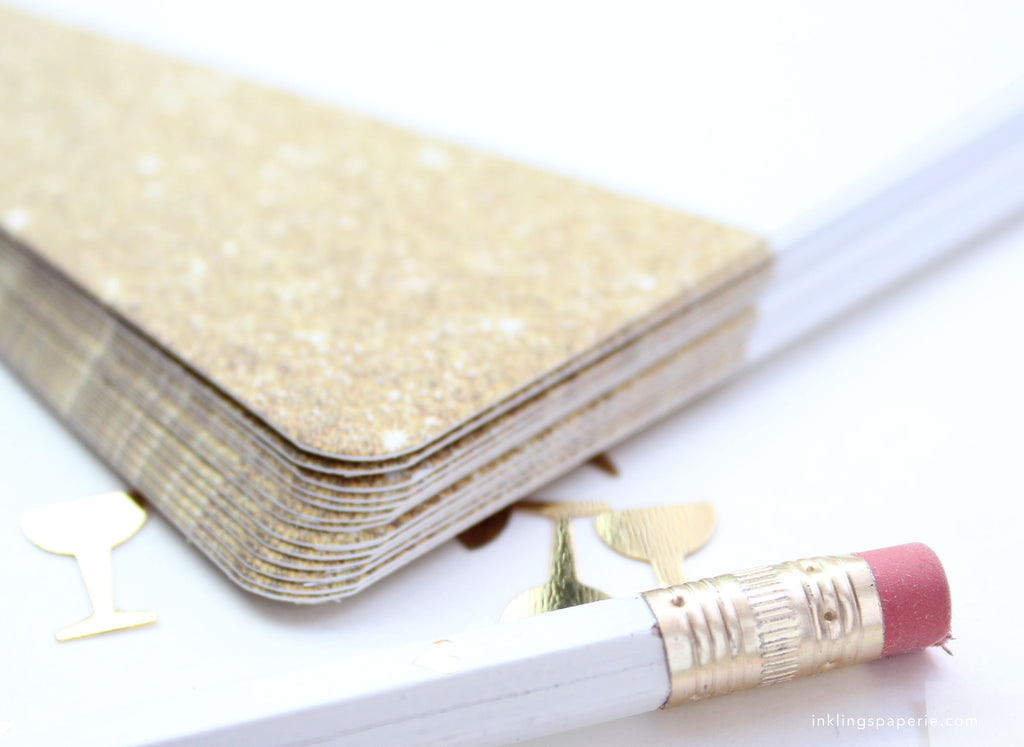 Faux Gold Glitter Invitation