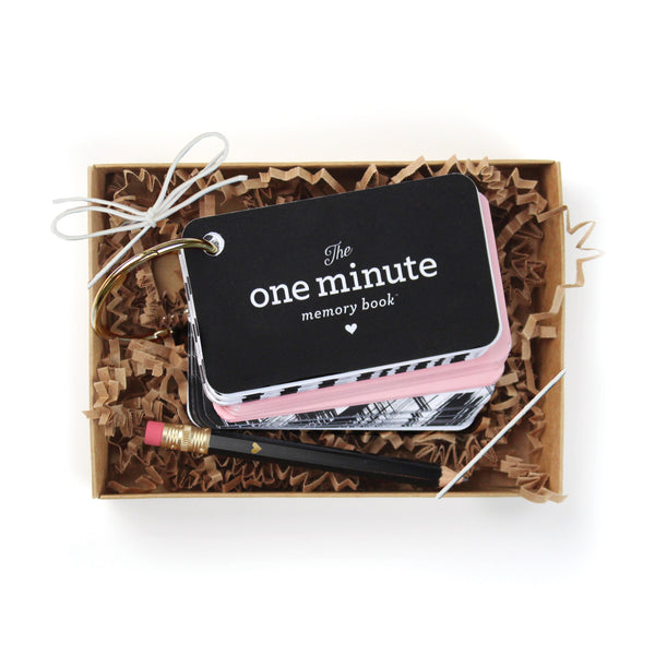One Minute Memory Book Starter Ring - Pink