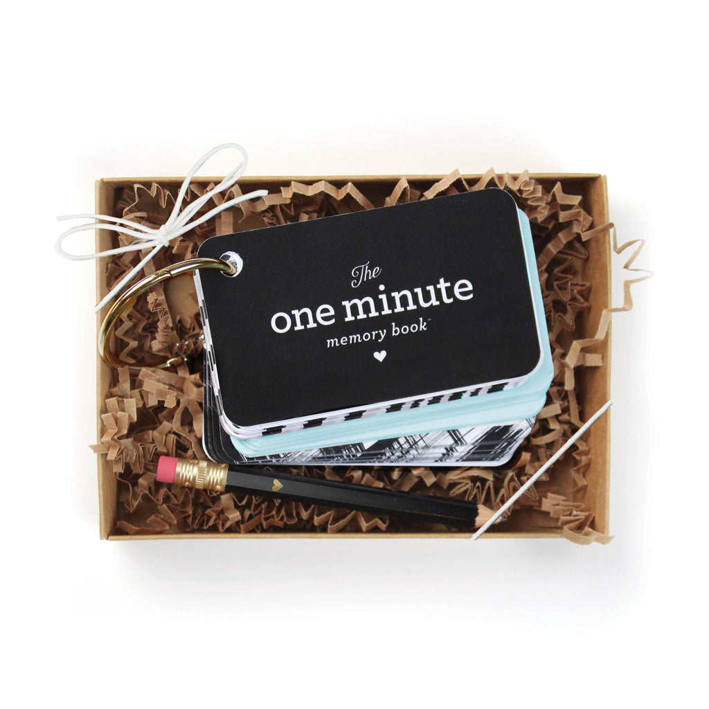 One Minute Memory Book Starter Ring - Blue