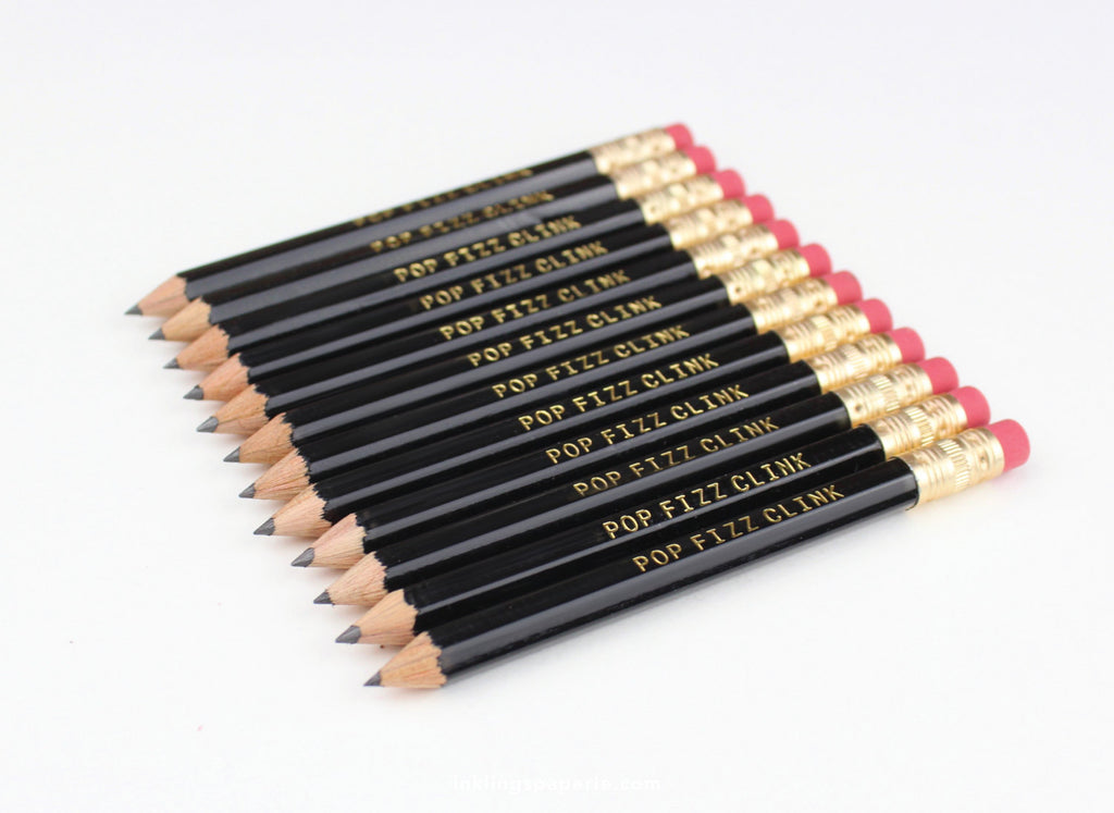 Pop Fizz Clink Mini Pencils - Black