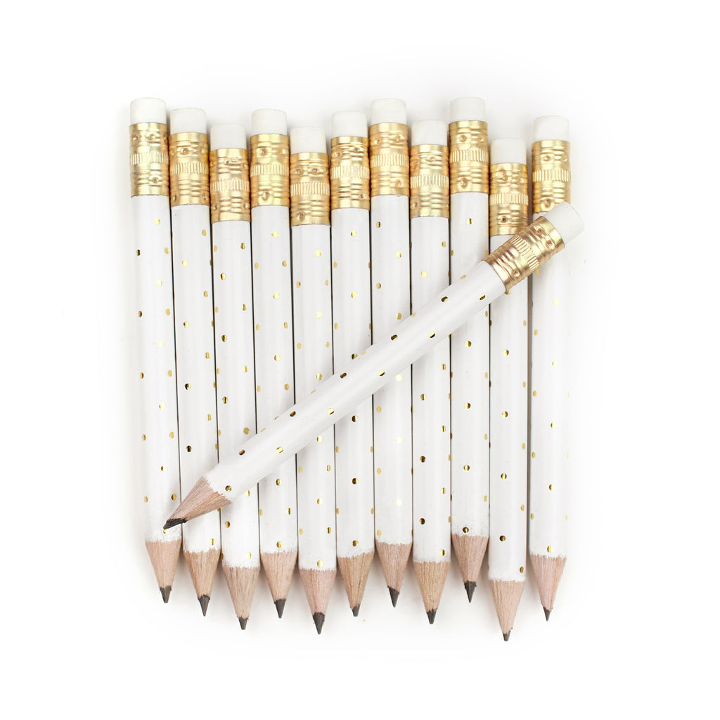Gold Dot Mini Pencils