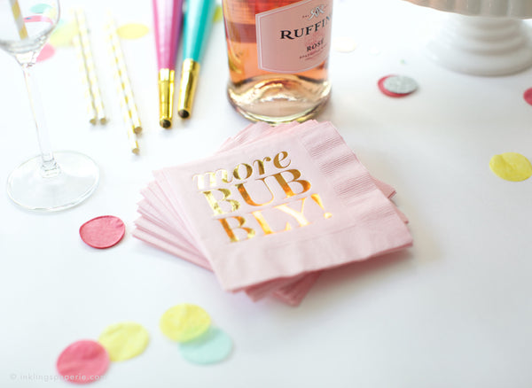 More Bubbly Cocktail Napkins - Pink