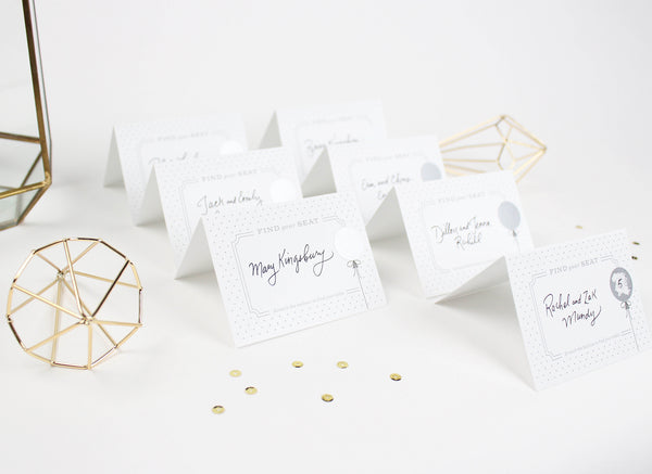 Scratch-off Tent Cards - Silver Balloon