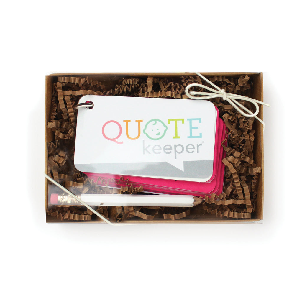 Quote Keeper Starter Ring - Fuchsia