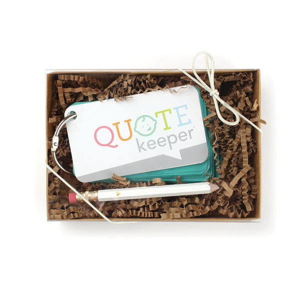 Quote Keeper Starter Ring - Teal