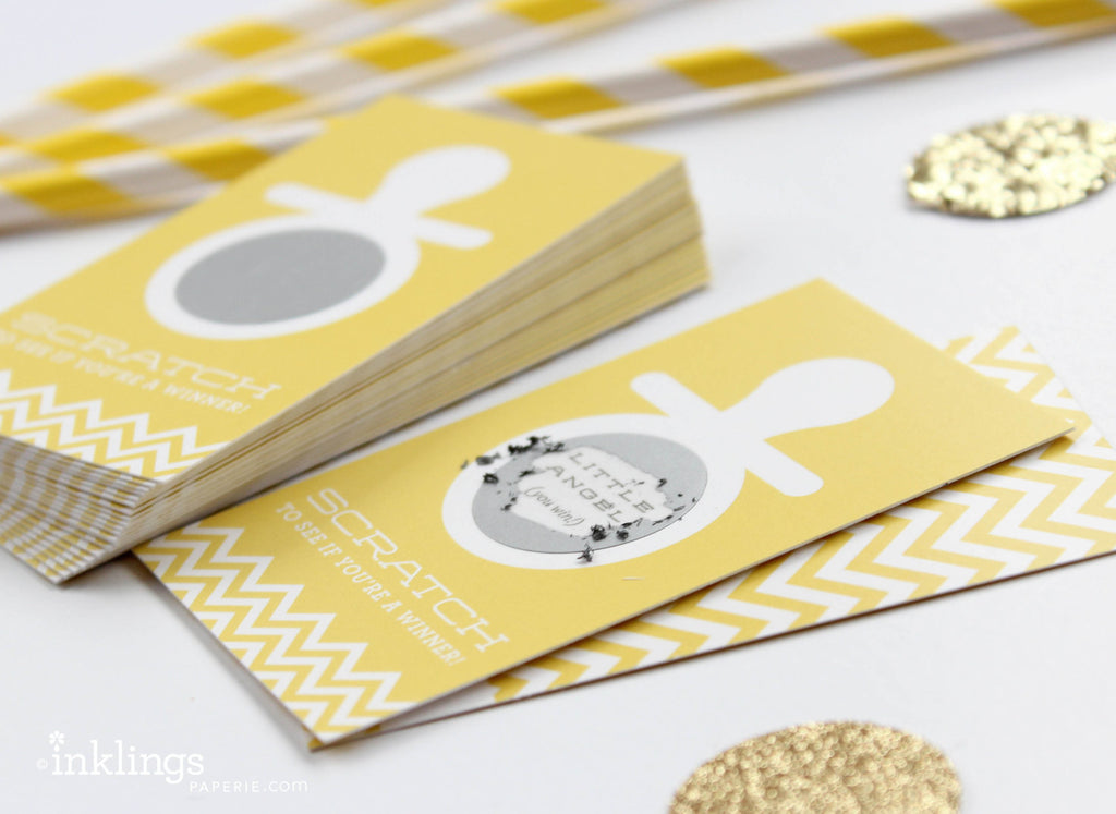 Yellow Pacifier Scratch-off Game