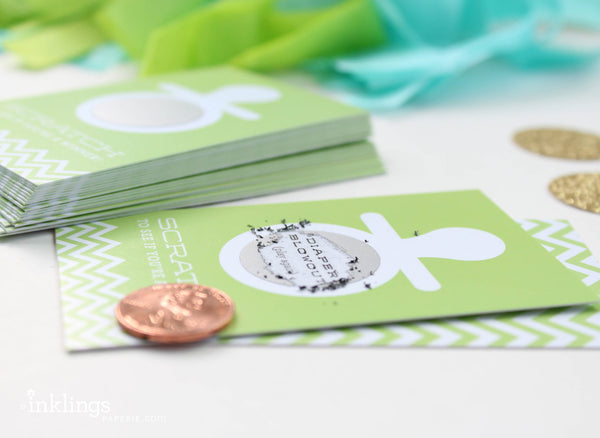 Apple Green Pacifier Scratch-off Game