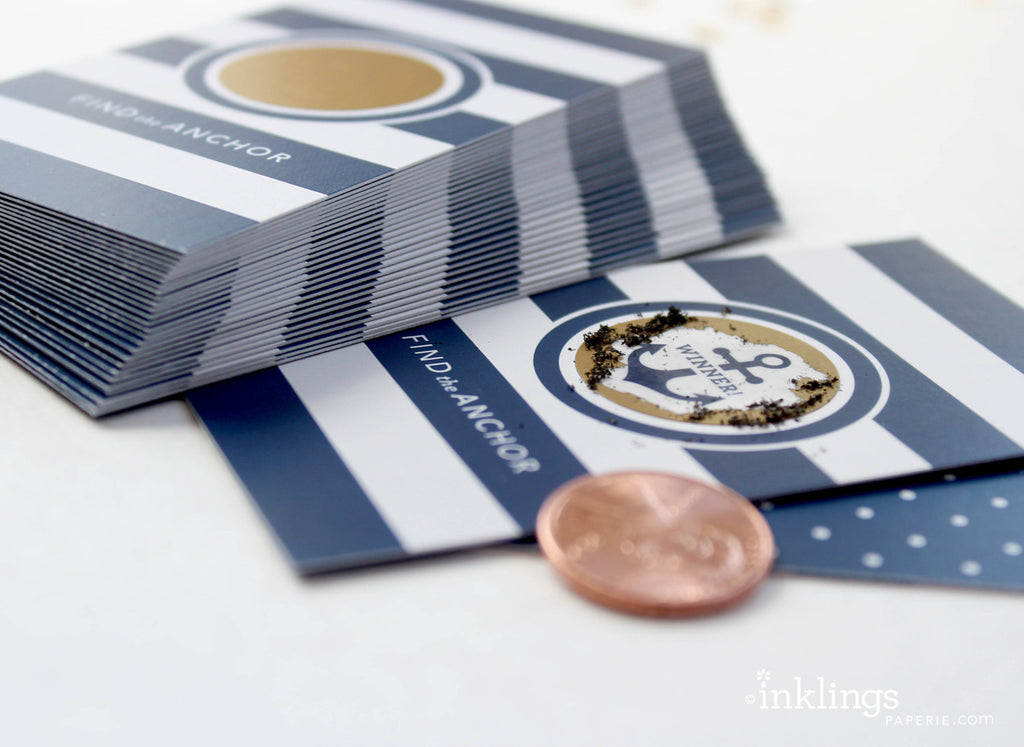 Nautical Stripes Scratch-off Game