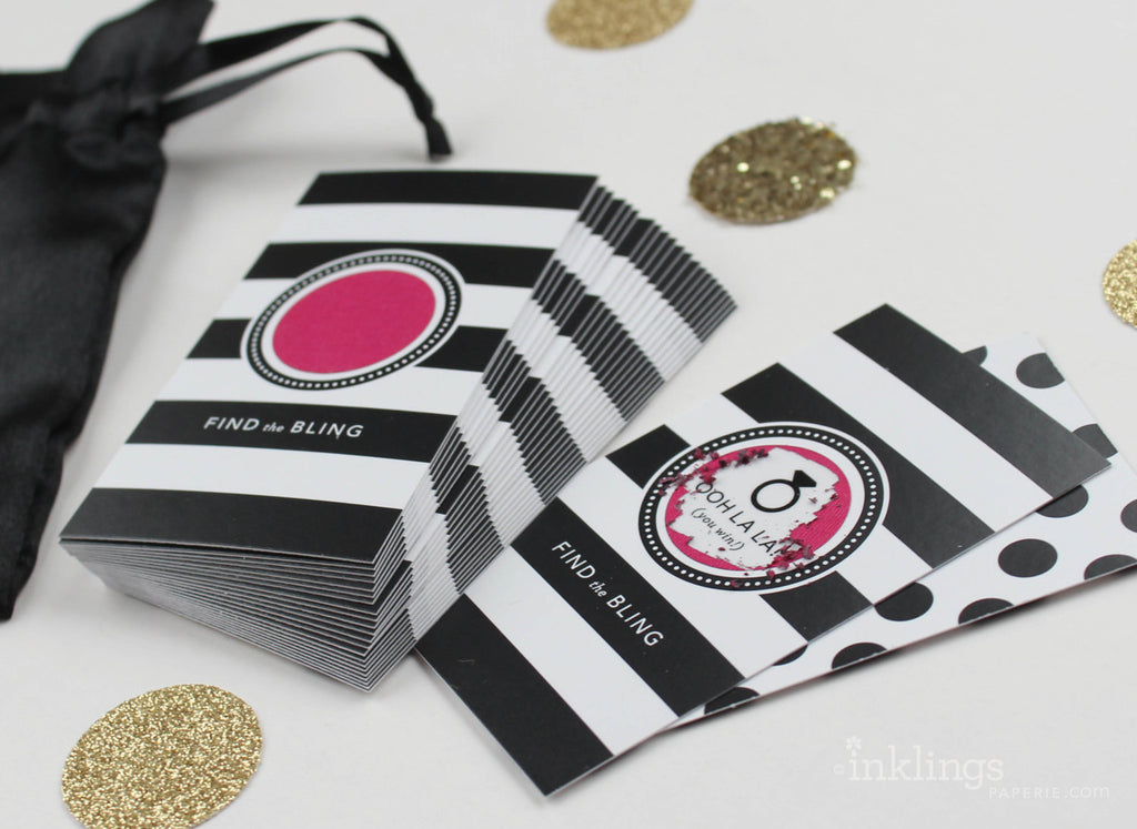 Pink Parisian Stripes Scratch-off Game