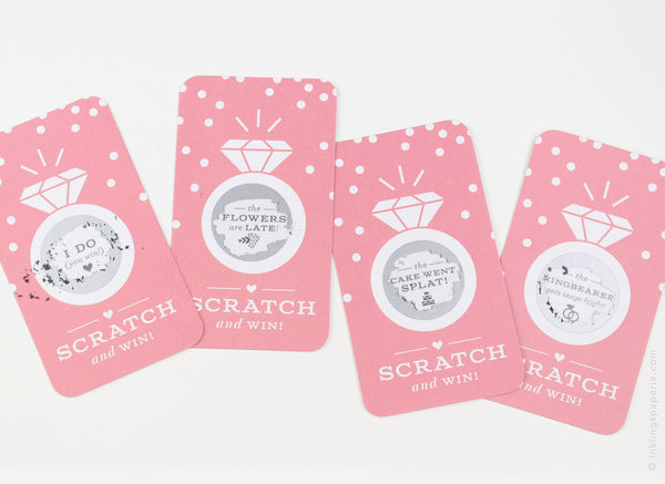 Bridal Scratch-off Game - Blush Pink