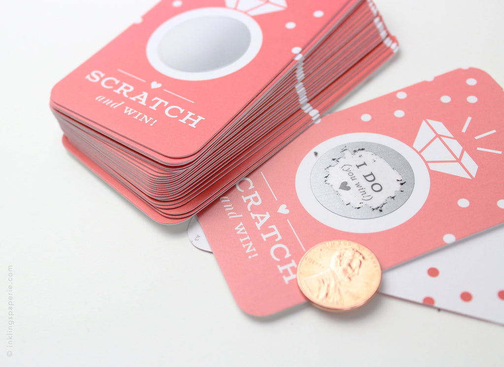 Bridal Scratch-off Game - Coral