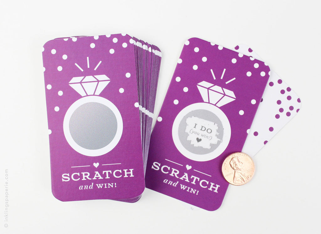 Bridal Scratch-off Game - Rich Purple