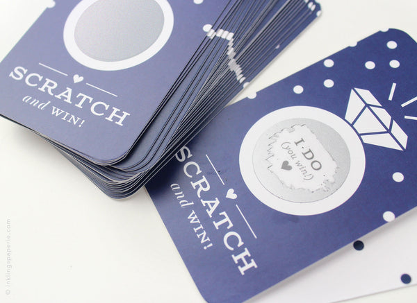 Bridal Scratch-off Game - Navy