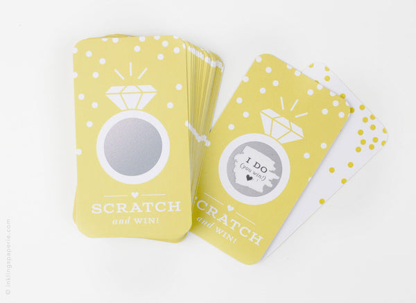 Bridal Scratch-off Game - Yellow