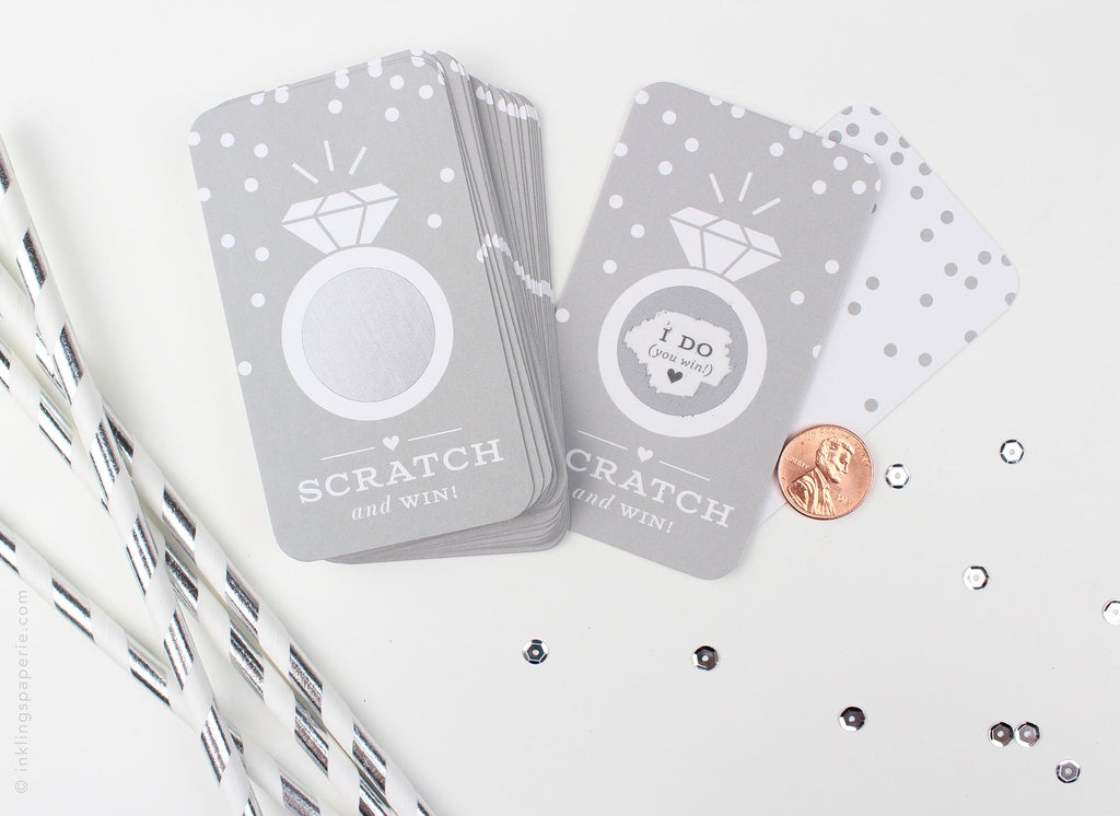 Bridal Scratch-off Game - Platinum Grey