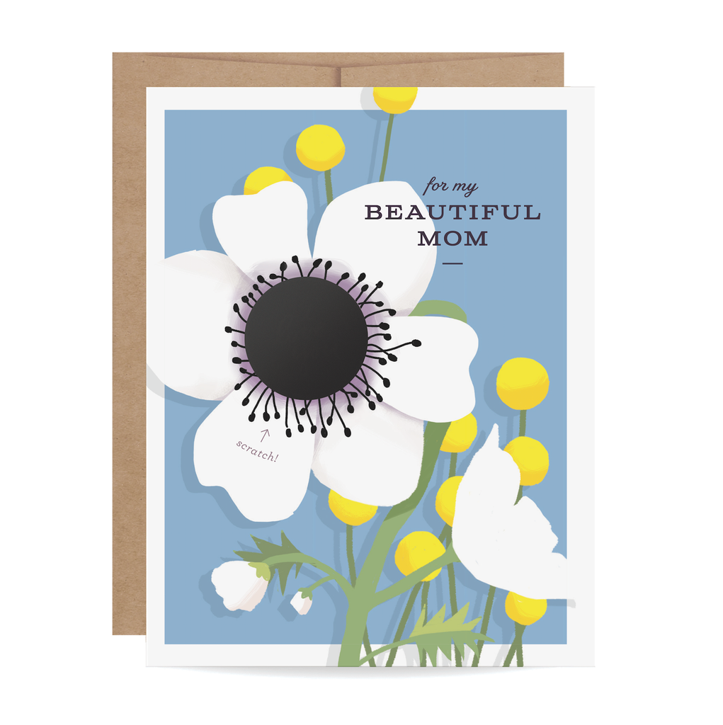 Beautiful Mom Scratch-off Card