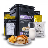 92 Serving Egg Scramble, Pancake & Milk Breakfast Bucket
