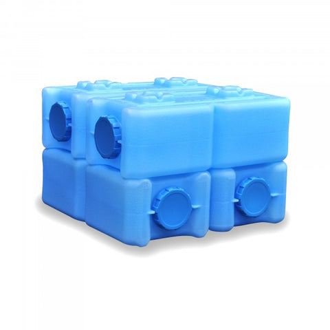 (4) 3.5 Gallon Stackable Bricks - 14 Gallons of Water Storage