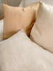 Linen Luster Silk Cushion in Wheat