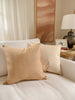Linen Luster Silk Cushion in Honey