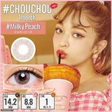 # Chou Chou Monthly #MilkyPeach - 小さい兎USAGICONTACTカラコン通販 | 日本美瞳 | Japanese Color Contact Lenses Shop