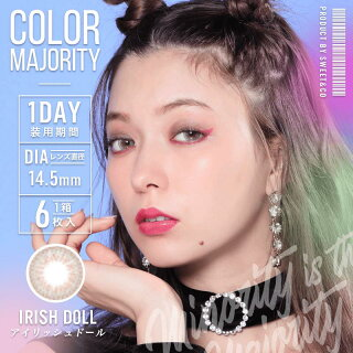 Color Majority 1 Day IrishDoll - 小さい兎USAGICONTACTカラコン通販 | 日本美瞳 | Japanese Color Contact Lenses Shop