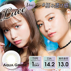 Luce 1 Day AquaGrege - 小さい兎USAGICONTACTカラコン通販 | 日本美瞳 | Japanese Color Contact Lenses Shop