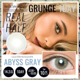 Grunge 1 Day AbyssGray - 小さい兎USAGICONTACTカラコン通販 | 日本美瞳 | Japanese Color Contact Lenses Shop