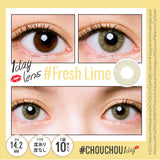 # Chou Chou 1 Day #FreshLime - 小さい兎USAGICONTACTカラコン通販 | 日本美瞳 | Japanese Color Contact Lenses Shop