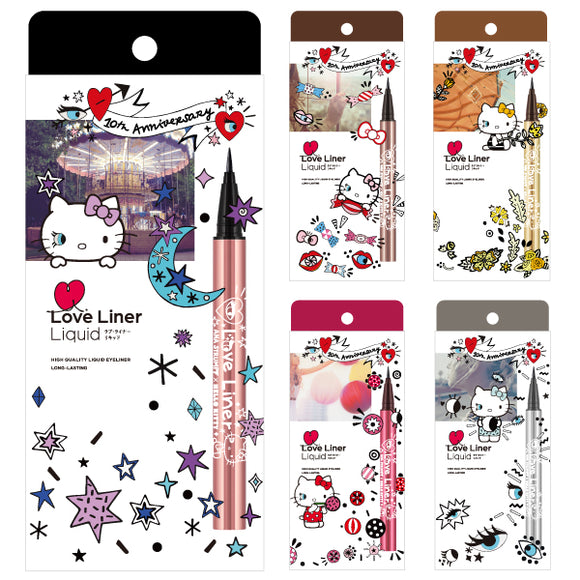 Love Liner Liquid EyeLiner Hello Kitty - 小さい兎USAGICONTACTカラコン通販 | 日本美瞳 | Japanese Color Contact Lenses Shop