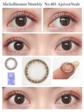 Miche Bloomin Monthly ApricotNude - 小さい兎USAGICONTACTカラコン通販 | 日本美瞳 | Japanese Color Contact Lenses Shop
