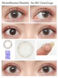 Miche Bloomin Monthly ClearGrege - 小さい兎USAGICONTACTカラコン通販 | 日本美瞳 | Japanese Color Contact Lenses Shop