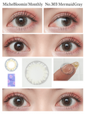 Miche Bloomin Monthly MermaidGray - 小さい兎USAGICONTACTカラコン通販 | 日本美瞳 | Japanese Color Contact Lenses Shop
