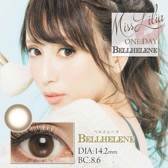 Misslilia 1 Day BellHelene - 小さい兎USAGICONTACTカラコン通販 | 日本美瞳 | Japanese Color Contact Lenses Shop