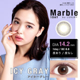 Marble By Luxury 1 Day IcyGray - 小さい兎USAGICONTACTカラコン通販 | 日本美瞳 | Japanese Color Contact Lenses Shop
