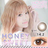 Honey Drops 14.2mm 1 Day HoneySweet - 小さい兎USAGICONTACTカラコン通販 | 日本美瞳 | Japanese Color Contact Lenses Shop
